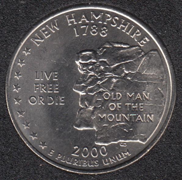 2000 P - New Hampshire - 25 Cents