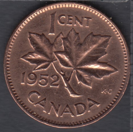 1952 - Cleaned - Canada Cent