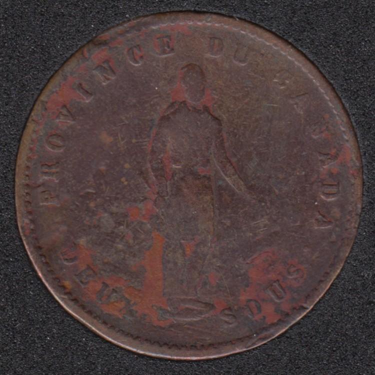 P.C. 1852 Quebec Bank - Penny Token PC-4
