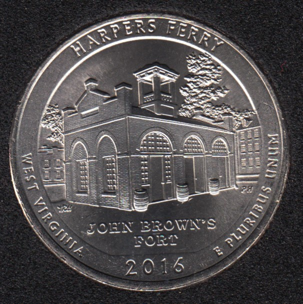 2016 P - Harpers Ferry - 25 Cents