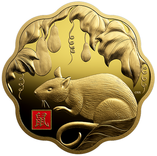2020 - $2500 - Pure Gold One Kilogram Lunar Lotus Coin - Year of the Rat