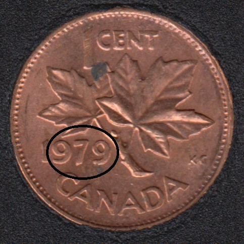 1979 - Double '979' - Canada Cent