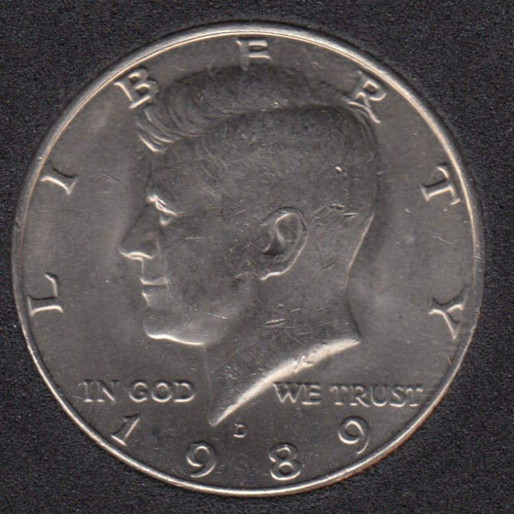 1989 D - Kennedy - 50 Cents
