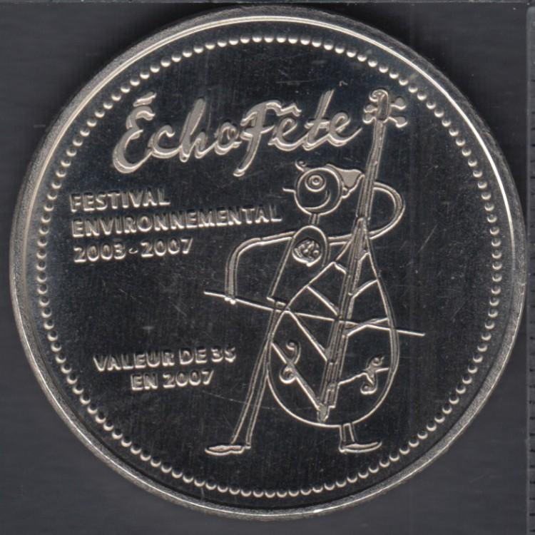 Trois-Pistoles / Les Basques - 2007 - L'Écho-Fête - $3 Trade Dollar