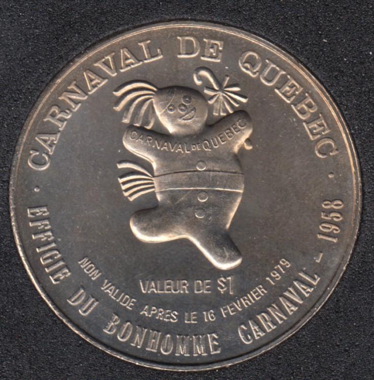 Quebec - 1979 Carnaval de Québec - Eff. 1958 / Bateau - Dollar de Commerce
