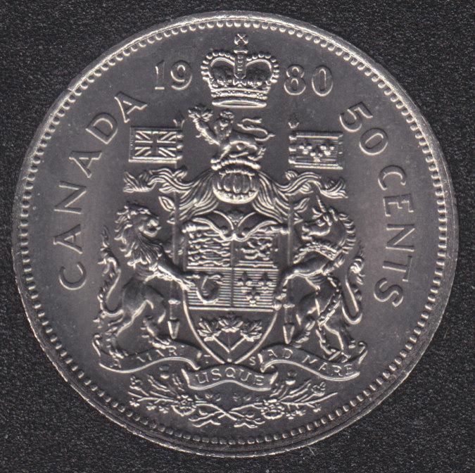 1980 - B.Unc - Canada 50 Cents