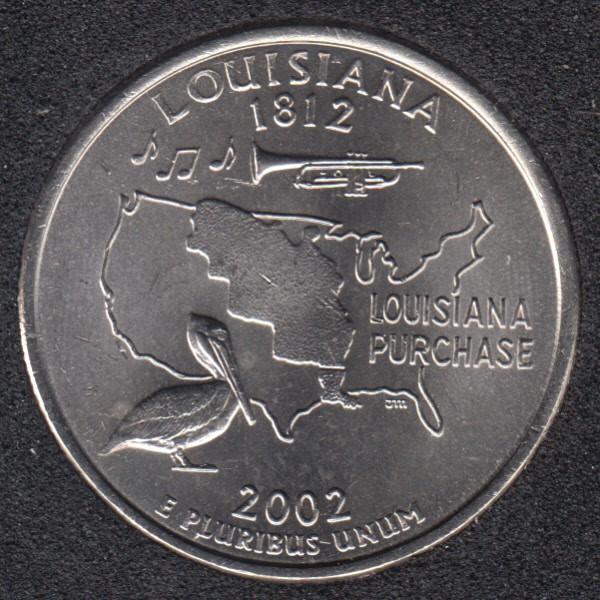 2002 D - Louisiana - 25 Cents