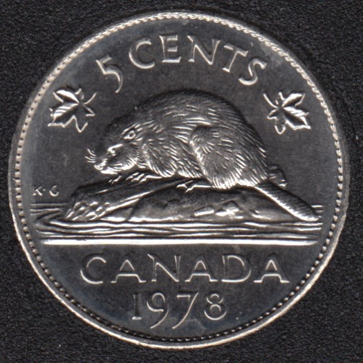 1978 - B.Unc - Canada 5 Cents