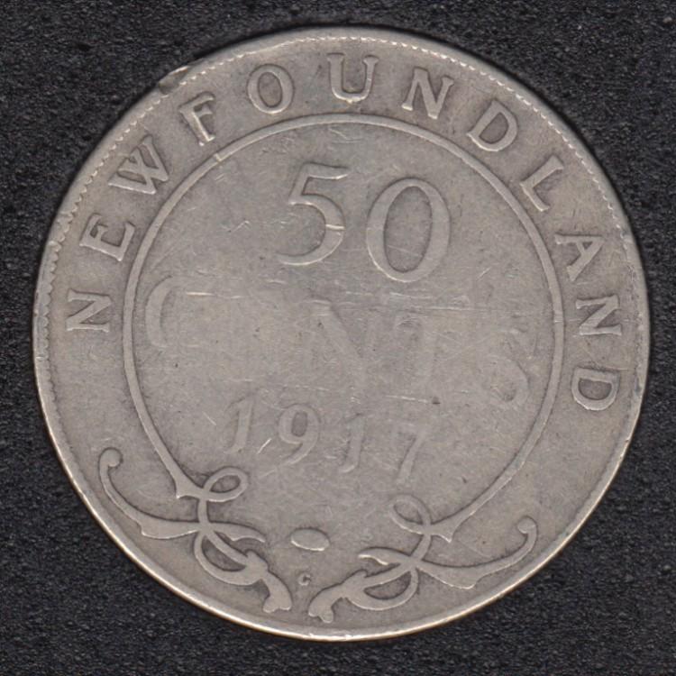 Terre Neuve - 1917 C - 50 Cents