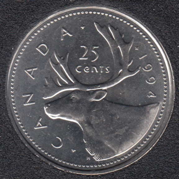 1994 - B.Unc - Canada 25 Cents