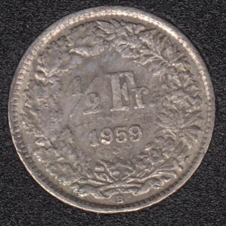 1961 B - 1/2 Franc - Switzerland