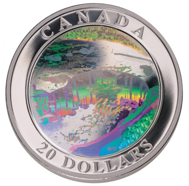 2003 - $20 -FINE SILVER NIAGARA FALL HOLOGRAM