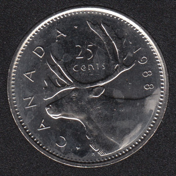 1988 - B.Unc - Canada 25 Cents