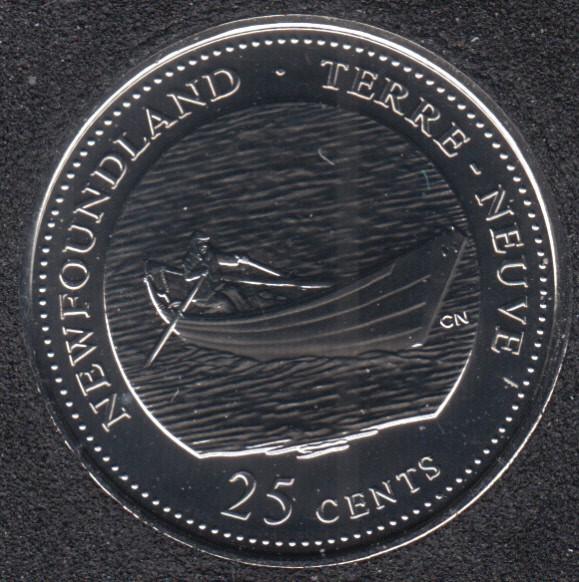 1992 - #3 NBU - Newfoundland - Canada 25 Cents