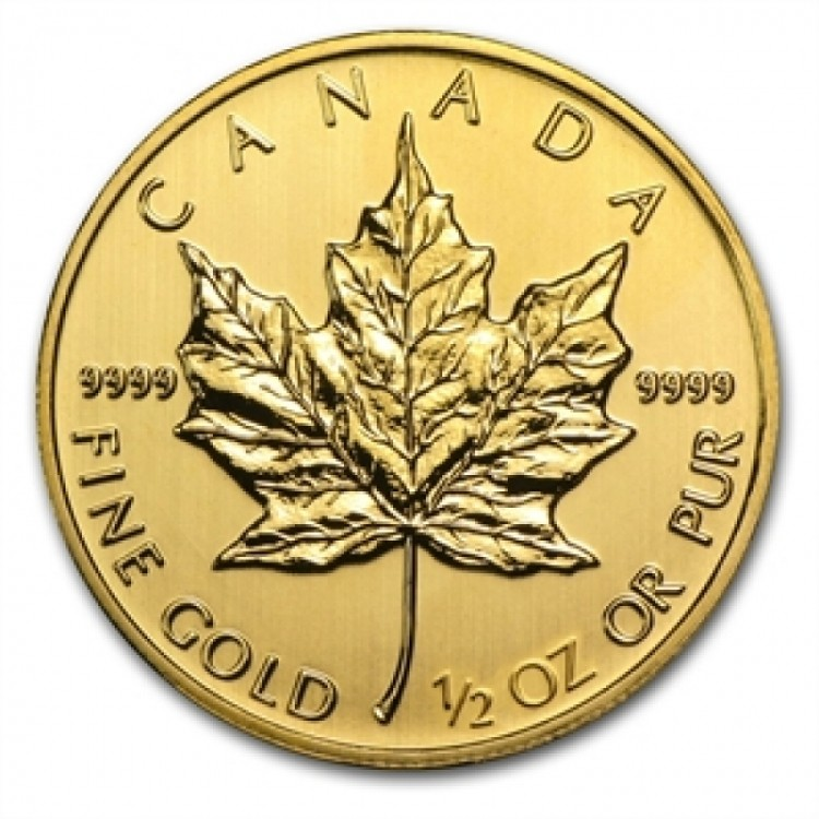 1/2 oz Canada Maple Leaf Pre-Owned Fine Gold - Mixed Date