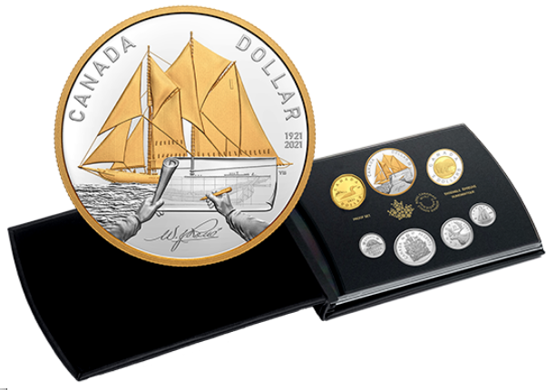 2021 - Pure Silver Proof Set – 100th Anniversary of Bluenose