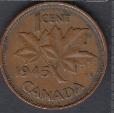1945 - Rotated Dies - Canada Cent