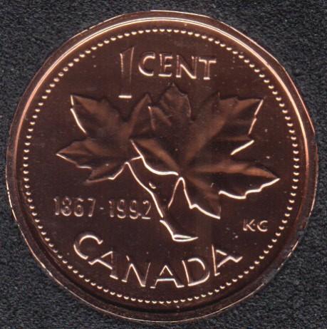 1992 - 1867 - NBU - Canada Cent