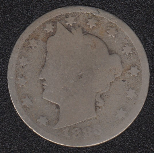 1883 - Liberty Head - With Cents - 5 Cents