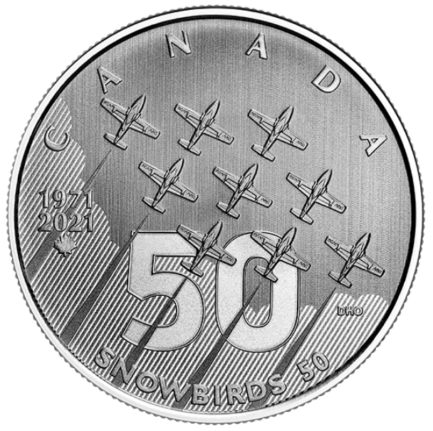 2021 - $5 - 1/4 oz. Pure Silver Coin - Moments to Hold: The Snowbirds
