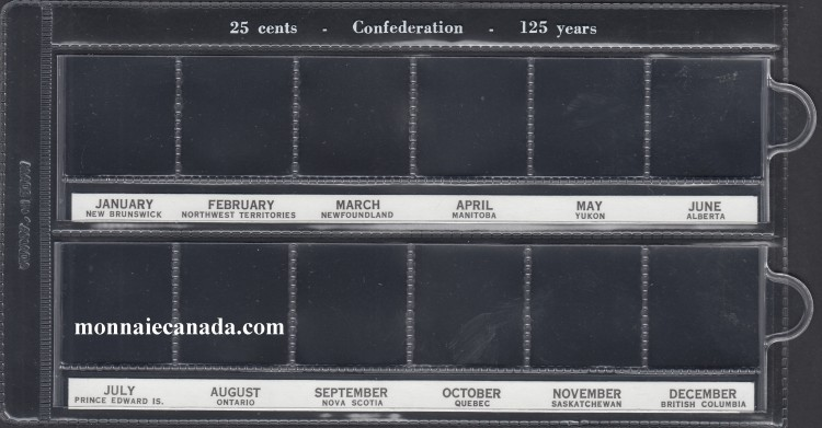 U-A Vinyl 25¢ Holders Commemorative (12) - Confederation