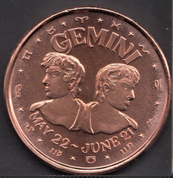 Gemini - 1 oz .999 Fine Copper
