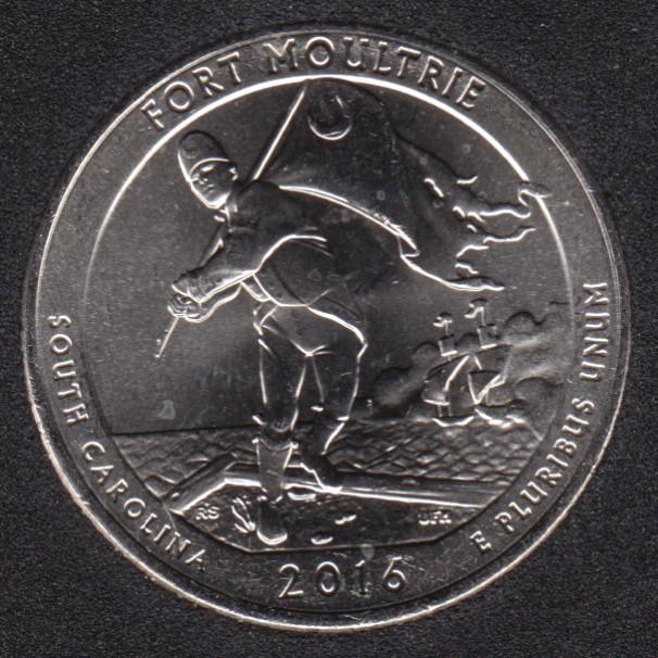 2016 D - Fort Moultrie - 25 Cents