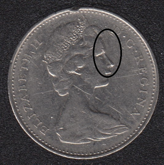 1974 - Double Head - Canada 5 Cents