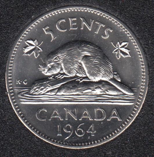 1964 - B.Unc - Canada 5 Cents