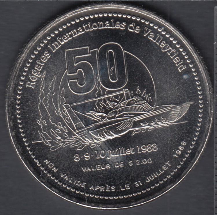 Valleyfield (Sallaberry-de-Valleyfield) - 1988 - 50° Ann. des Régates Internationales de Valleyfield - $1 Trade Dollar