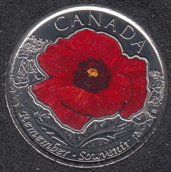 2015 - B.Unc - Coquelicot Col. - Canada 25 Cents