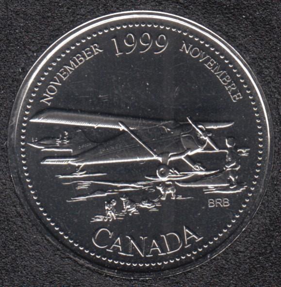 1999 - #911 NBU - November - Canada 25 Cents