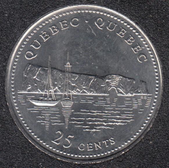1992 - #910 B.Unc - Quebec - Canada 25 Cents