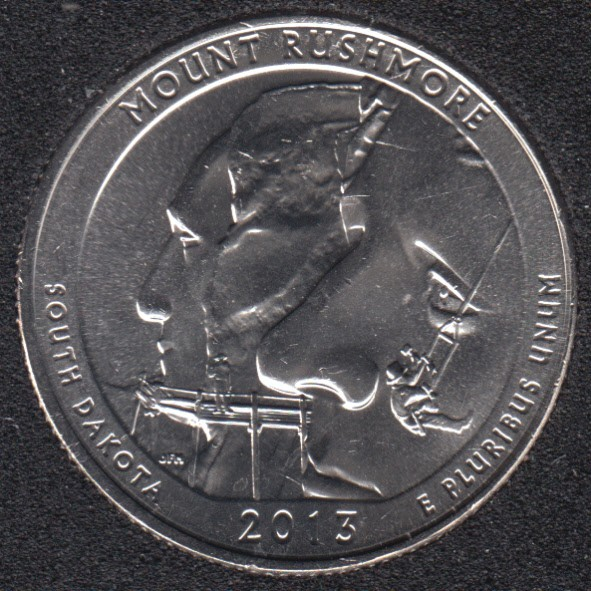 2013 D - Mount Rushmore - 25 Cents