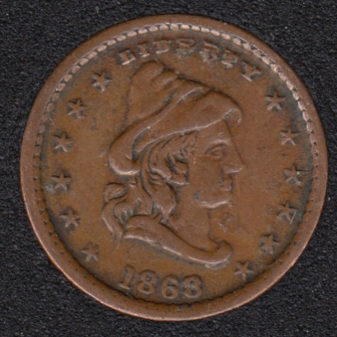 1863 - Our Army - 90° Rotated Dies - Civil War Token