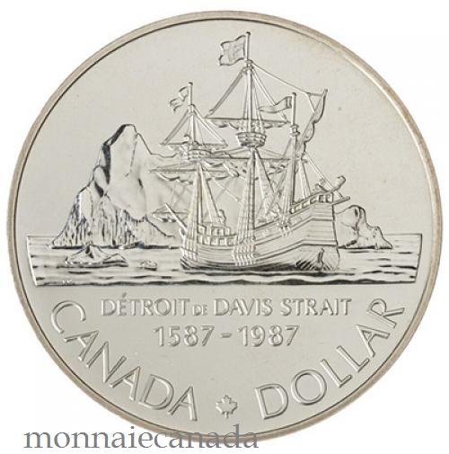 1987 DOLLAR EN ARGENT BRILLIANT INCIRCULE