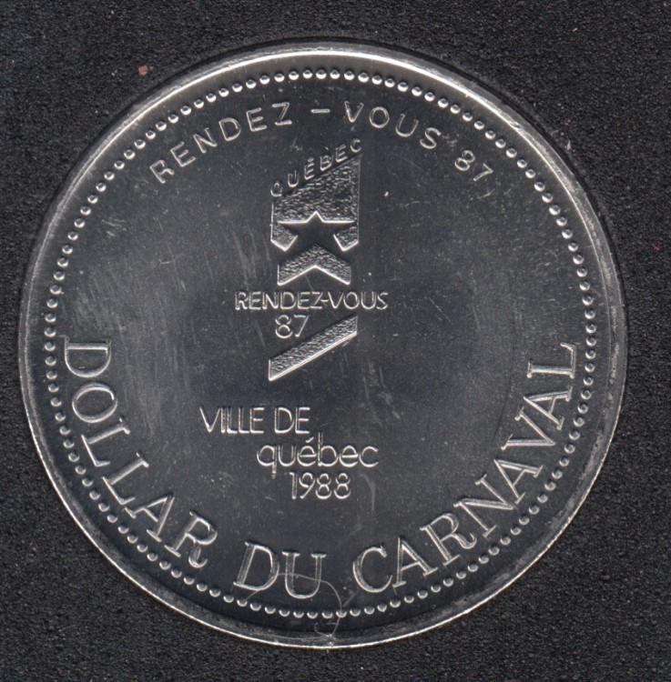 Quebec - 1988 Carnaval de Québec - Pal. 1959 / Rendez-Vous '87 - Dollar de Commerce