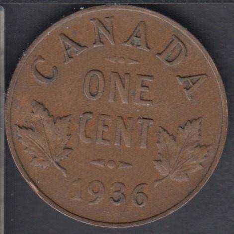 1936 - VF/EF - Canada Cent