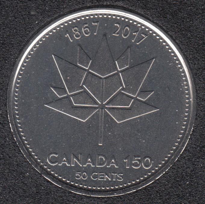 2017 - B.Unc - 150 Ann. - Canada 50 Cents