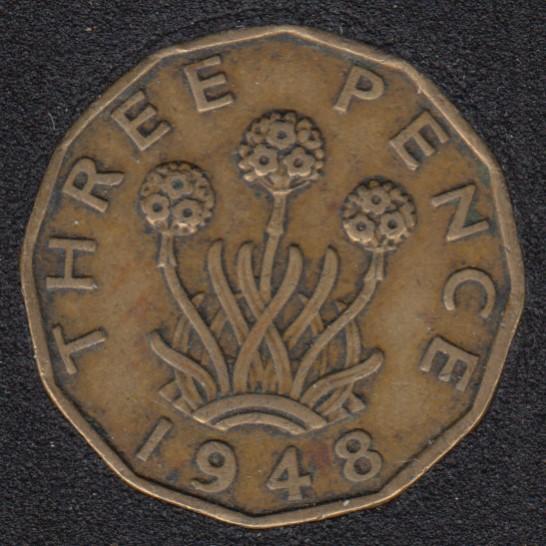 1948 - 3 Pence - Grande Bretagne