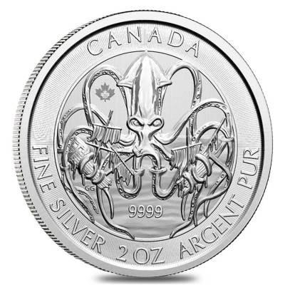 2020 Creatures of the North - Kraken 2 os Fine Silver Coin