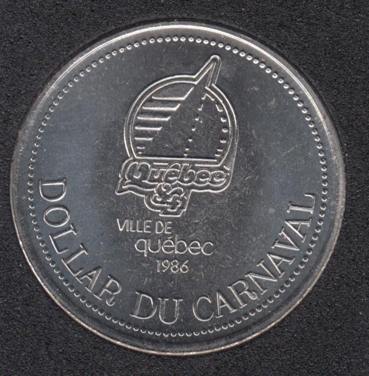 Quebec - 1986 Carnaval de Québec - Eff. 1984 / Logo Quebec '84 - Dollar de Commerce