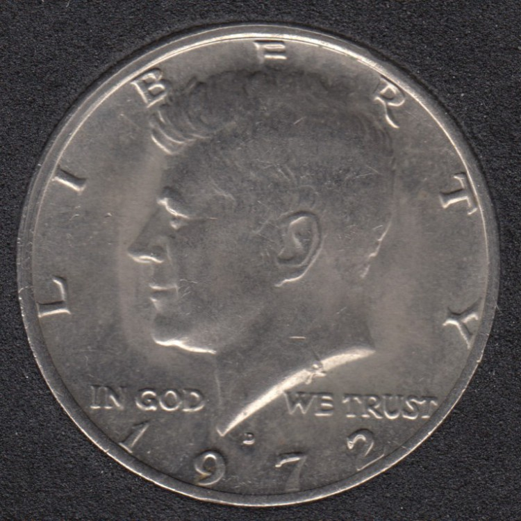 1972 D - Kennedy - 50 Cents
