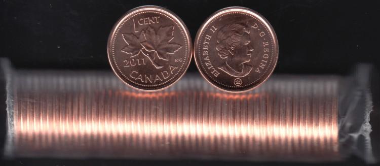 2011 Canada 1 Cent - Mag. - ROULEAU 50 Pieces - Brilliant Incirculées