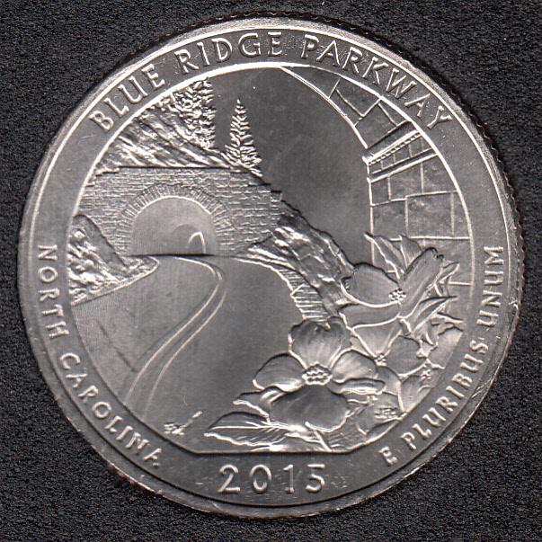 2015 P - Blue Ridge Parkway - 25 Cents