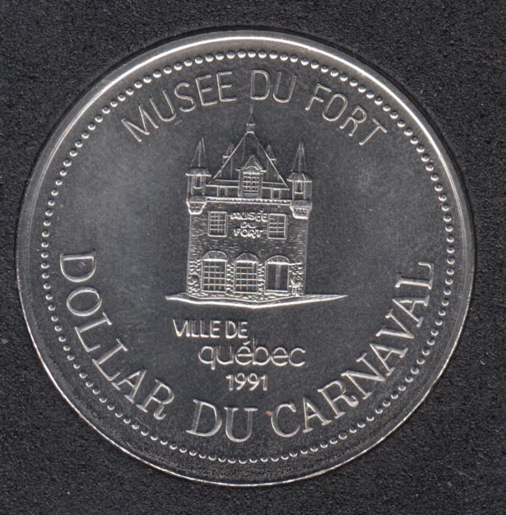 Quebec - 1991 Carnival of Quebec - Pal. 1967 / Musée du Fort - Trade Dollar