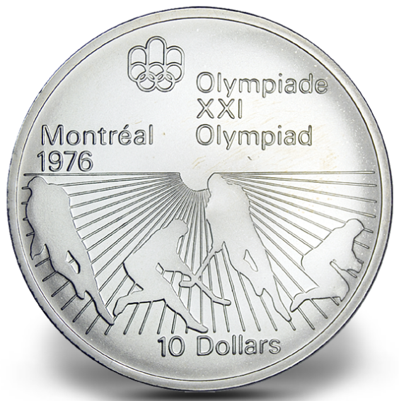 1976 - #21 - $10 - Sterling Silver Coin, Montreal Summer Olympic Games, Field Hockey