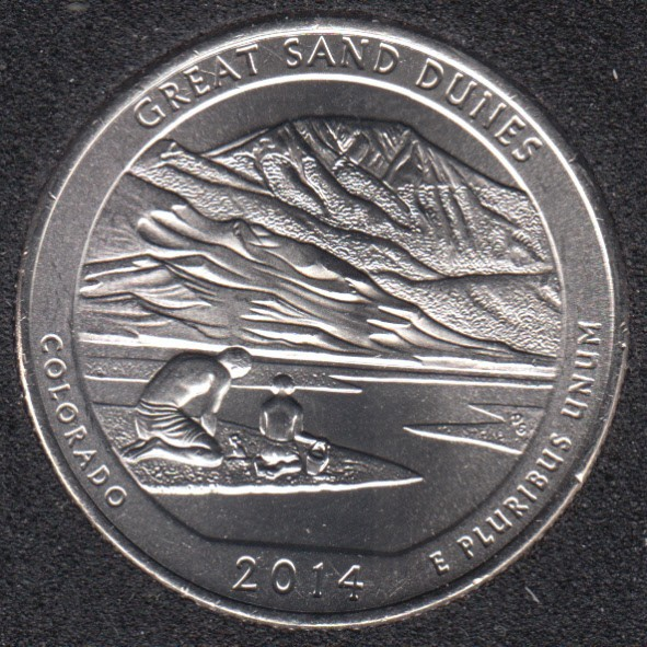 2014 P - Great Sand Dunes - 25 Cents