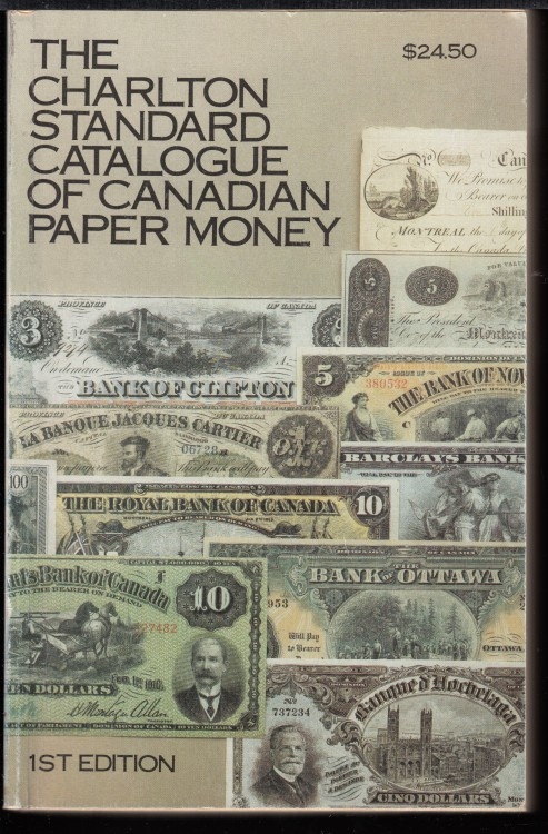 Charlton - Standard Catalogue of Canadian Paper Money - 1rd Edition - Use