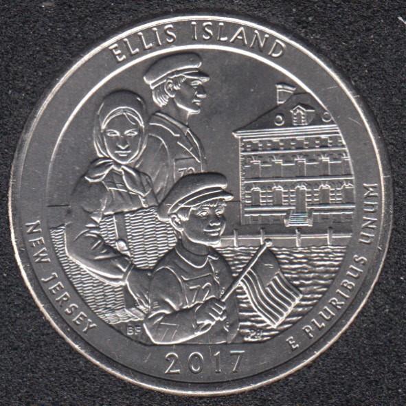 2017 P - Ellis Island - 25 Cents